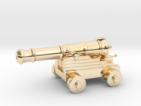 Cannon Paperweight in 14K Yellow Gold