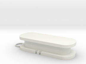 Earphones Holder in White Natural Versatile Plastic