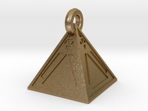 Limited Edition Sith Holocron Keychain in Polished Gold Steel