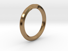 Heptagon Ring in Natural Brass