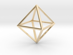 OCTAHEDRON (Platonic) in 14K Yellow Gold