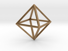 OCTAHEDRON (Platonic) in Natural Brass