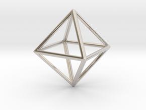 OCTAHEDRON (Platonic) in Platinum