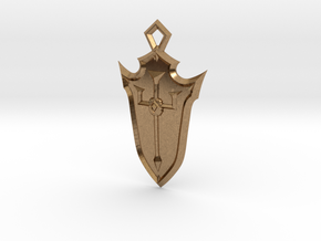 Crusader Shield in Natural Brass