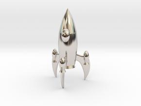 Knight - [2,1] Stellar in Rhodium Plated Brass