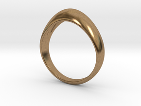 Simple Vintage Ring Design in Natural Brass