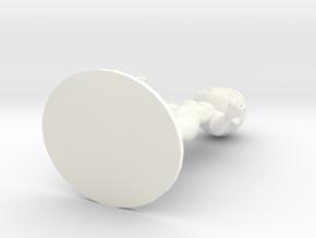 Guy DIY Figurine in White Processed Versatile Plastic