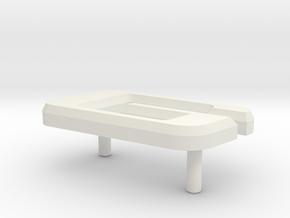 Retroën Character G in White Natural Versatile Plastic