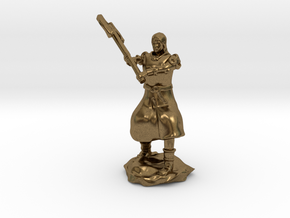 Human Fighter Noblewoman with Greataxe & Chainmail in Natural Bronze