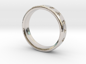 Pokemon Ring in Rhodium Plated Brass: 6 / 51.5