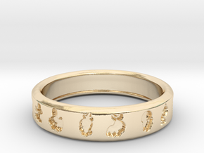 PokemonRing - Size 11 Test in 14k Gold Plated Brass