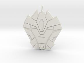 Hammer Time Badge  in White Natural Versatile Plastic