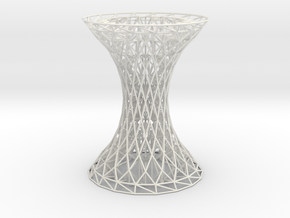 Column Rhombus Grid Hyperboloid in White Natural Versatile Plastic