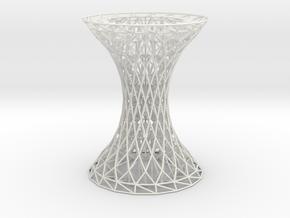 Column Rhombus Grid Hyperboloid in White Strong & Flexible