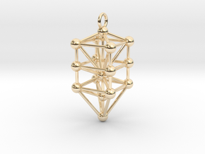 Small Qabalistic Tree of Life Pendant in 14K Yellow Gold