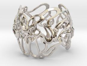 metà braccialetto G in Rhodium Plated Brass