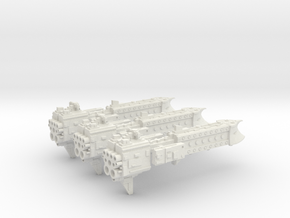 'BFG' Terran Scimitar Class Escort Ship Squadron in White Natural Versatile Plastic
