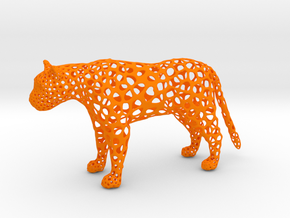 proud Leopard in Orange Processed Versatile Plastic