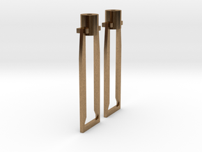 HO cross head hangers in Natural Brass