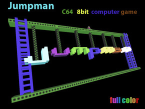 Jumpman Lives ! C64 8bit pixel game in Full Color Sandstone