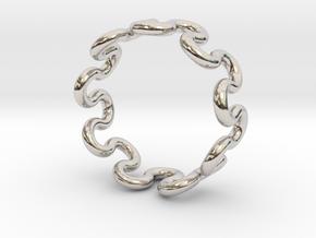 Wave Ring (15mm / 0.59inch inner diameter) in Platinum
