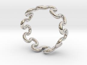 Wave Ring (19mm / 0.74inch inner diameter) in Platinum