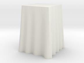"1:24 Draped Bar Table - 24"" square in White Natural Versatile Plastic"