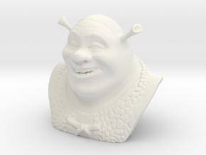 Animated Movies - Shrek Bust in White Natural Versatile Plastic
