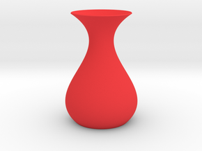 Math Vase in Red Strong & Flexible Polished