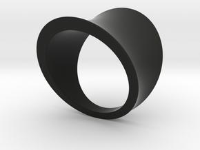 Arc ring in Black Natural Versatile Plastic