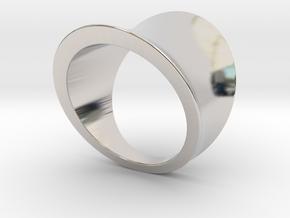Arc ring in Rhodium Plated Brass