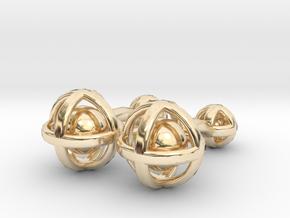 Ball In Sphere Cufflinks in 14K Yellow Gold
