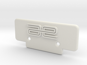 RC10T Bumper in White Strong & Flexible