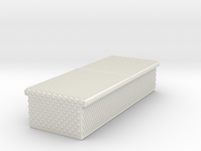 1/87 Diamond plate storage box(In:0.331wx0.799dx0. in White Strong & Flexible