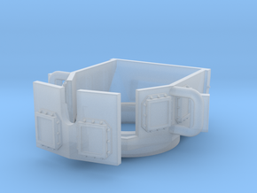 ~1/87 open MRAP/HMMWV turret (repaired) in Smooth Fine Detail Plastic