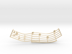 Music Pendant 2 in 14k Gold Plated Brass