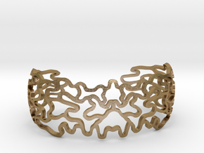 Ornamentbracelet in Polished Gold Steel