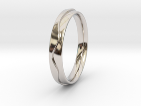 Layered Ring in Rhodium Plated Brass