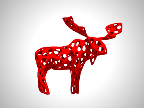 Wireframe Moose in White Strong & Flexible Polished