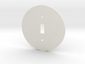 plodes® 1 Gang Toggle Switch Wall Plate in White Strong & Flexible