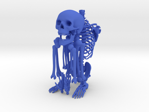 Mr Bones -- Articulated Skeleton in Blue Strong & Flexible Polished
