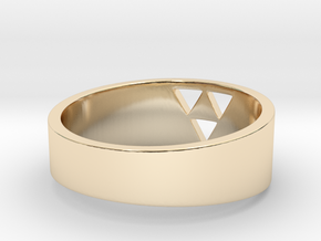 """Triforce Ring - 7""""3/4 in 14k Gold Plated Brass"""