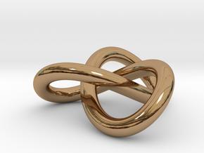 Trefoil Knot Pendant (2cm) in Polished Brass