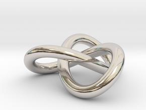 Trefoil Knot Pendant (2cm) in Platinum