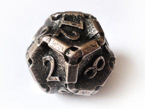 Stretcher Die12 in Polished Bronzed Silver Steel