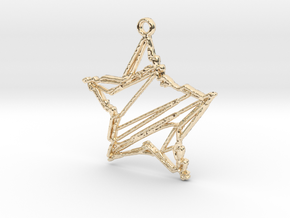 Sketch Star Pendant in 14k Gold Plated Brass