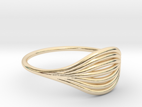 Flow Ring 01  in 14K Yellow Gold