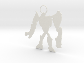 RobotSilhouette in White Natural Versatile Plastic