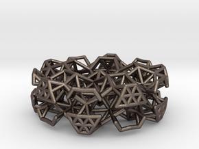 Orbital Pendant in Polished Bronzed Silver Steel