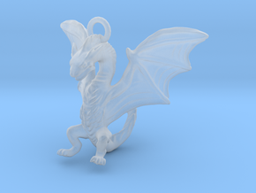 Dragon Charm in Smooth Fine Detail Plastic